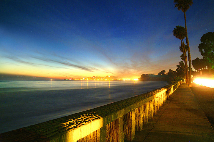 Montecito's Butterfly Beach at Sunset