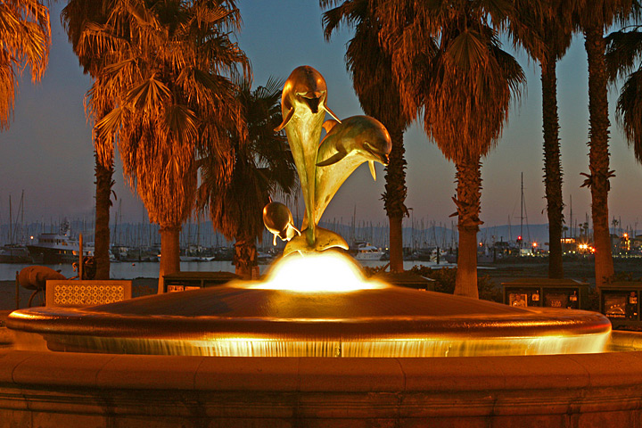 Dolphin Fountain at the Entrance to Stearn's Wharf